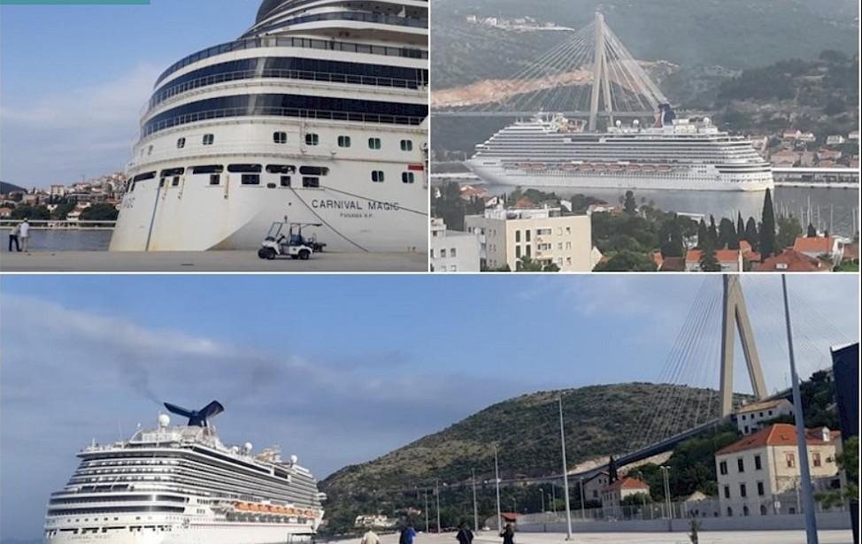 DUBROVNIK KAO LUKA SPASA Uplovio kruzer s pomorcima iz cijelog svijeta